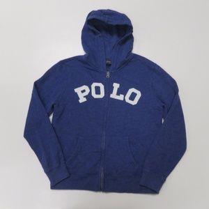 Ralph Lauren Zip Up Hoodie Polo Large Sewn Logo